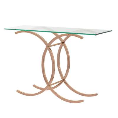 Boční stolek Chica rose gold 128x40x79cm Psací stoly, boční stolky a konzoly - Dekoria-home.cz