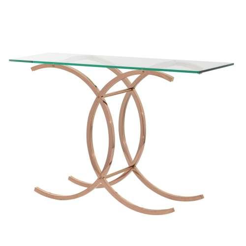 Boční stolek Chica rose gold 128x40x79cm