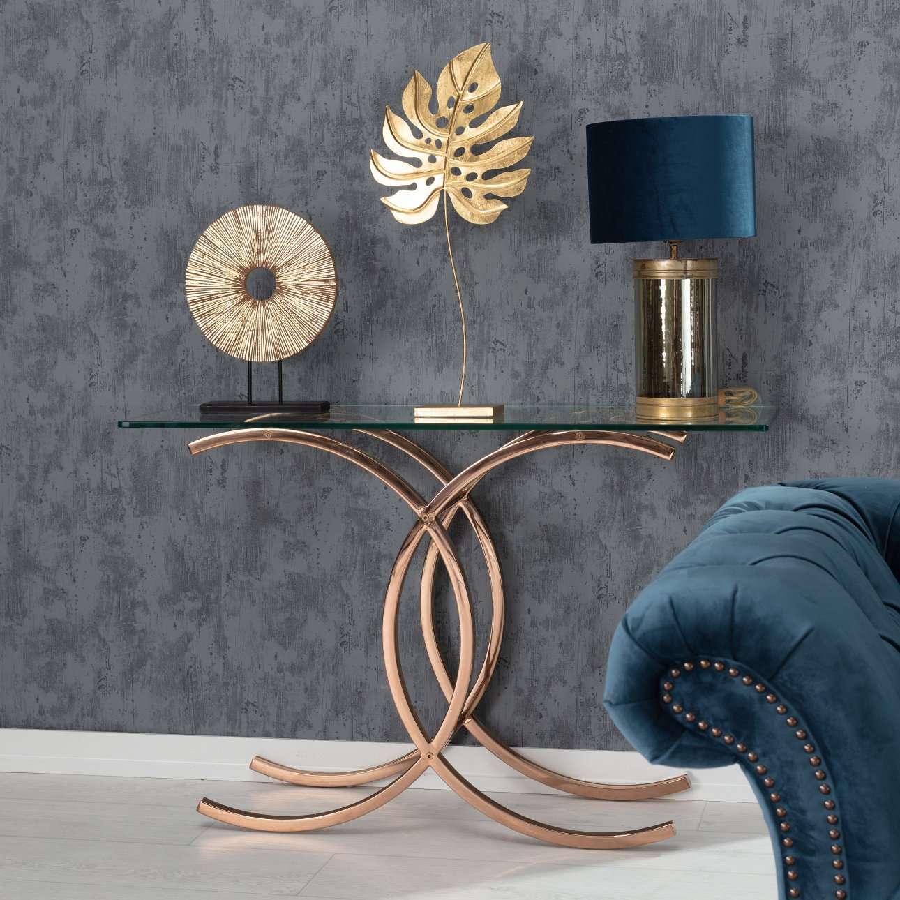 Konsole Chica rose gold 128x40x79cm