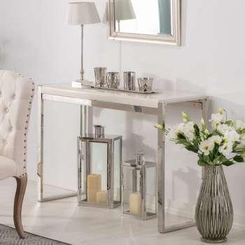 Konsola Chianti marble ivory white 120x40x80cm