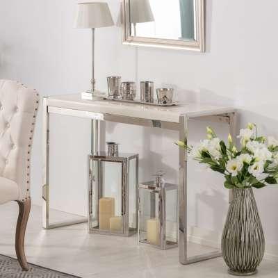 Konzola Chianti marble ivory white 120x40x80cm Psací stoly, boční stolky a konzoly - Dekoria-home.cz