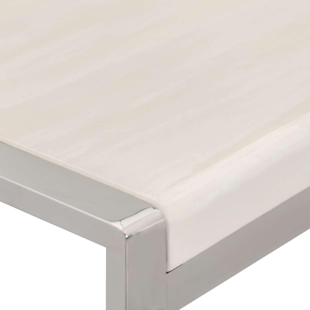 Sidetable Chianti marble ivory white 120x40x80cm