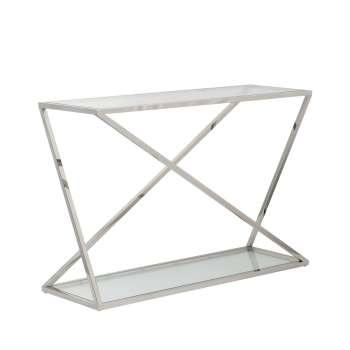 Sidetable Vertigo silver 120x40x80cm