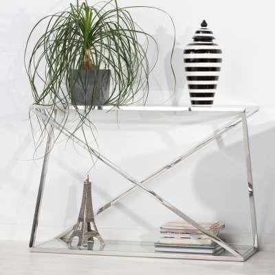 Boční stolek - konzole Vertigo silver 120x40x80cm Psací stoly, boční stolky a konzoly - Dekoria-home.cz