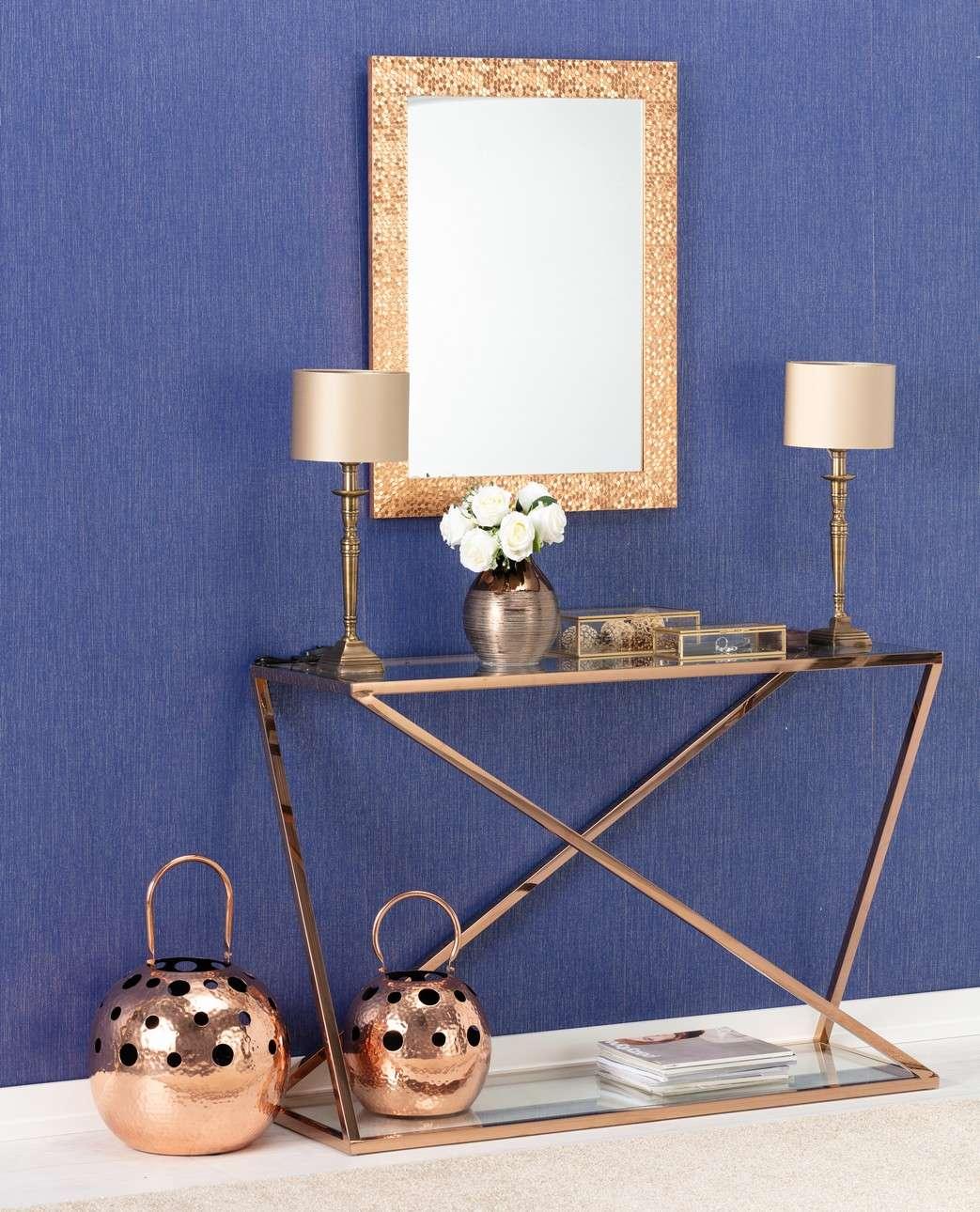 Konsola Vertigo rose gold 120x40x80cm