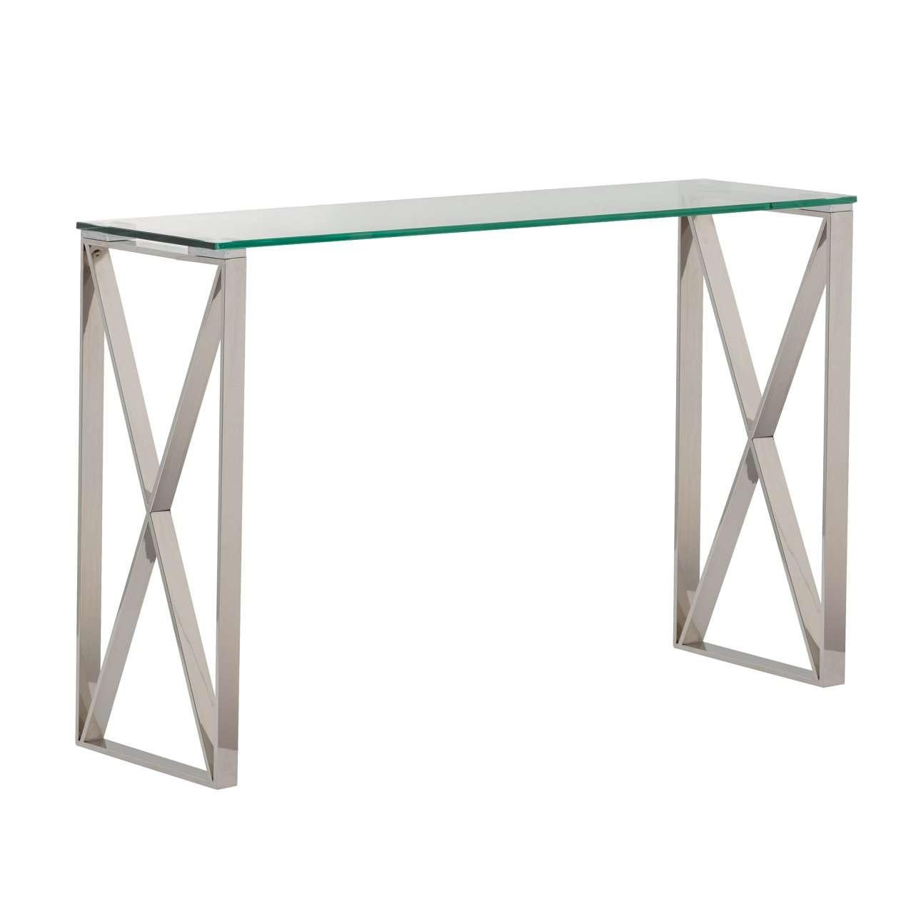 Boční stolek Senso silver 120x40x80cm