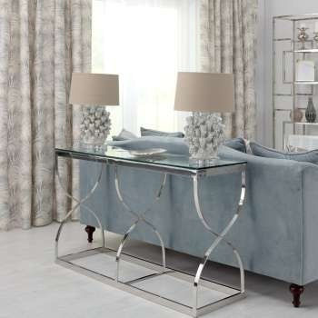 Boční stolek - konzole Dubai silver 140x40x80