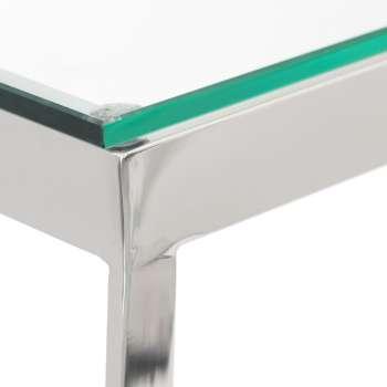 Konsola Dubai silver 140x40x80