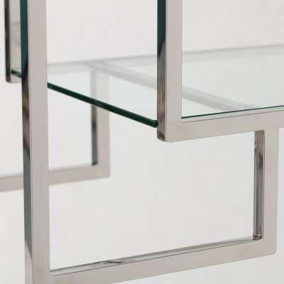Regal Hypnose silver 115x40x202cm