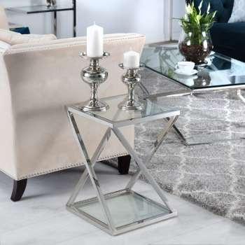 Stolik pomocniczy Shiraz silver 40x40x56cm