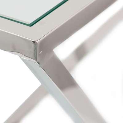 Beistelltisch Shiraz silver 40x40x56cm