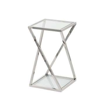Stolik pomocniczy Shiraz silver 40x40x70cm