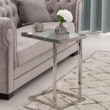 Stolik pomoczniczy Magnetic silver 48x35x63cm