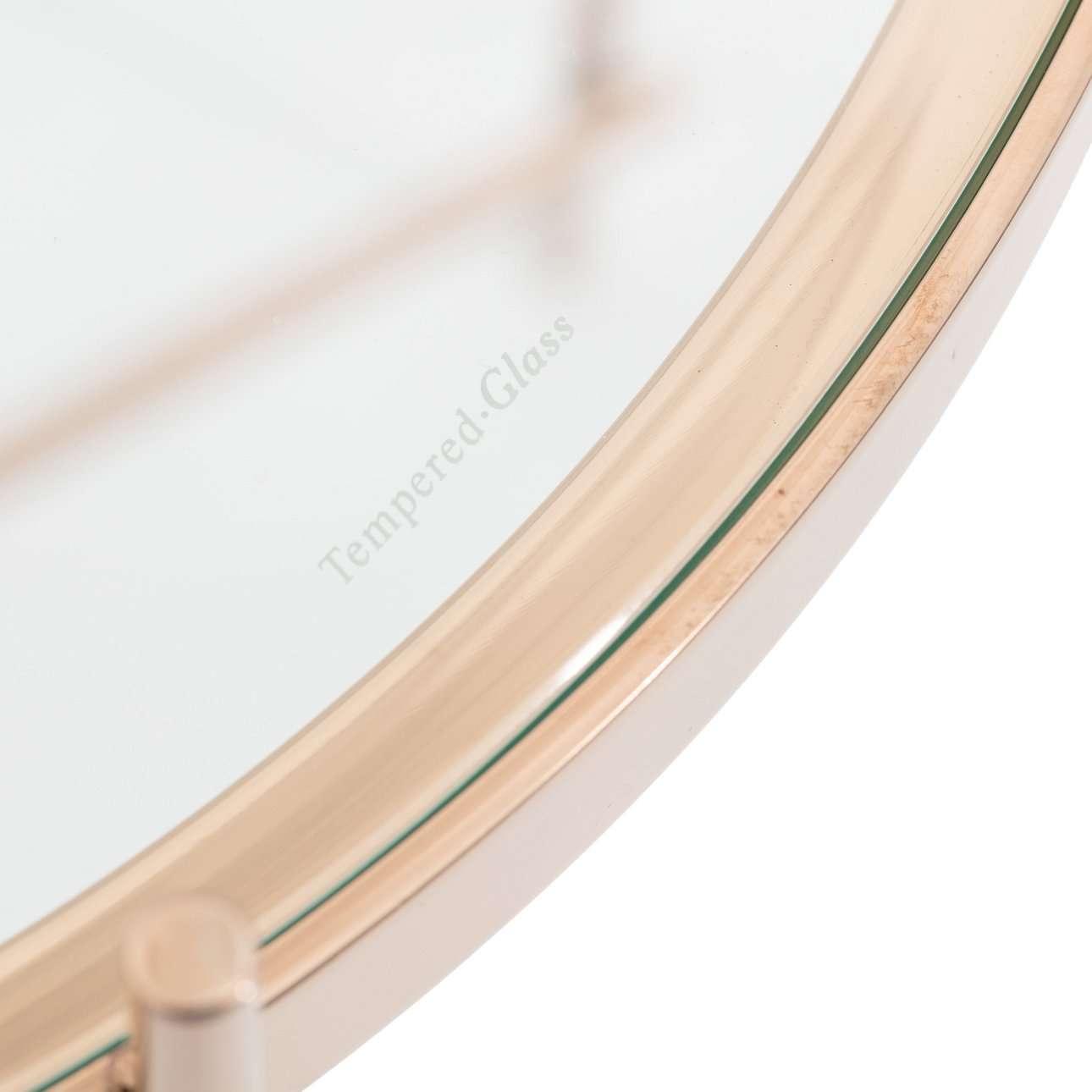 Stolik Sensi rose gold 48x60cm