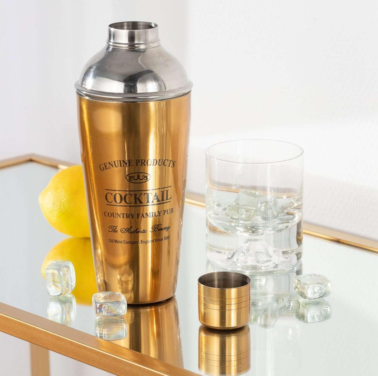 Cocktailshaker Genuine gold