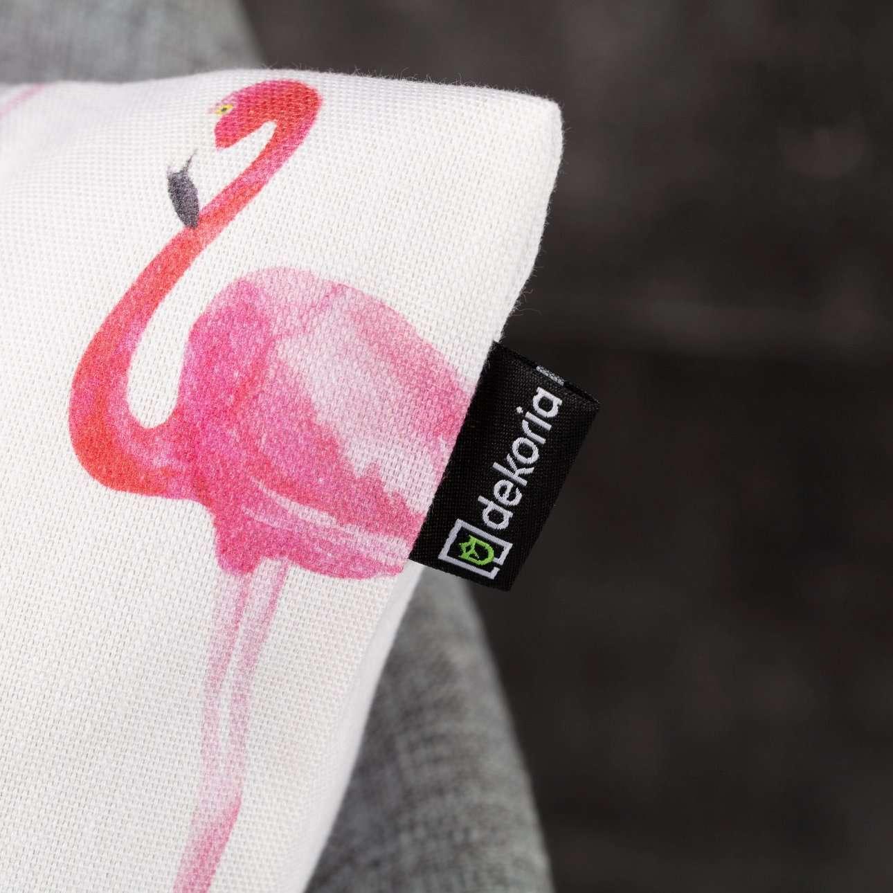 Deko Kissenhülle Pink Flamingo 45x45cm