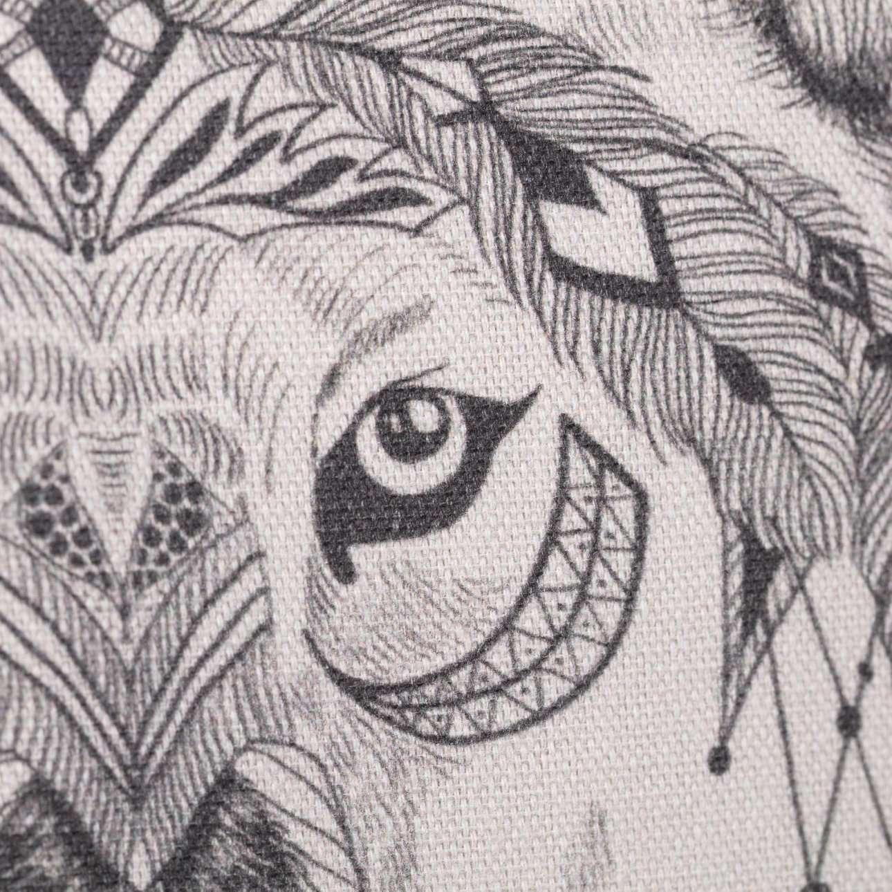 Deko-Kissenhülle Indian Wolf 45x45cm