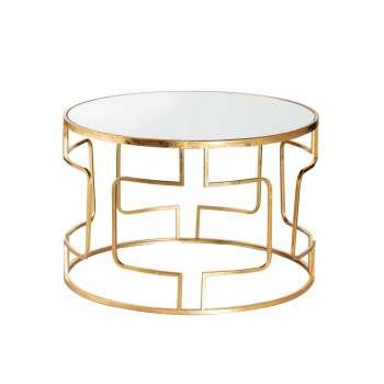 Konferenční/kávový stolek Melio gold průměr 70cm