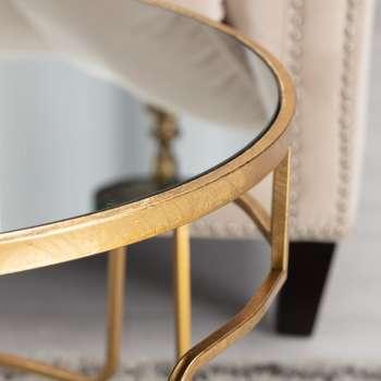 Couchtisch Melio gold 70x46cm