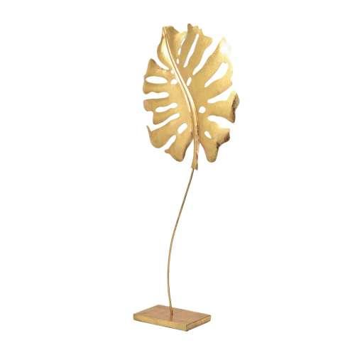 Ornament Golden Leaf I 68cm