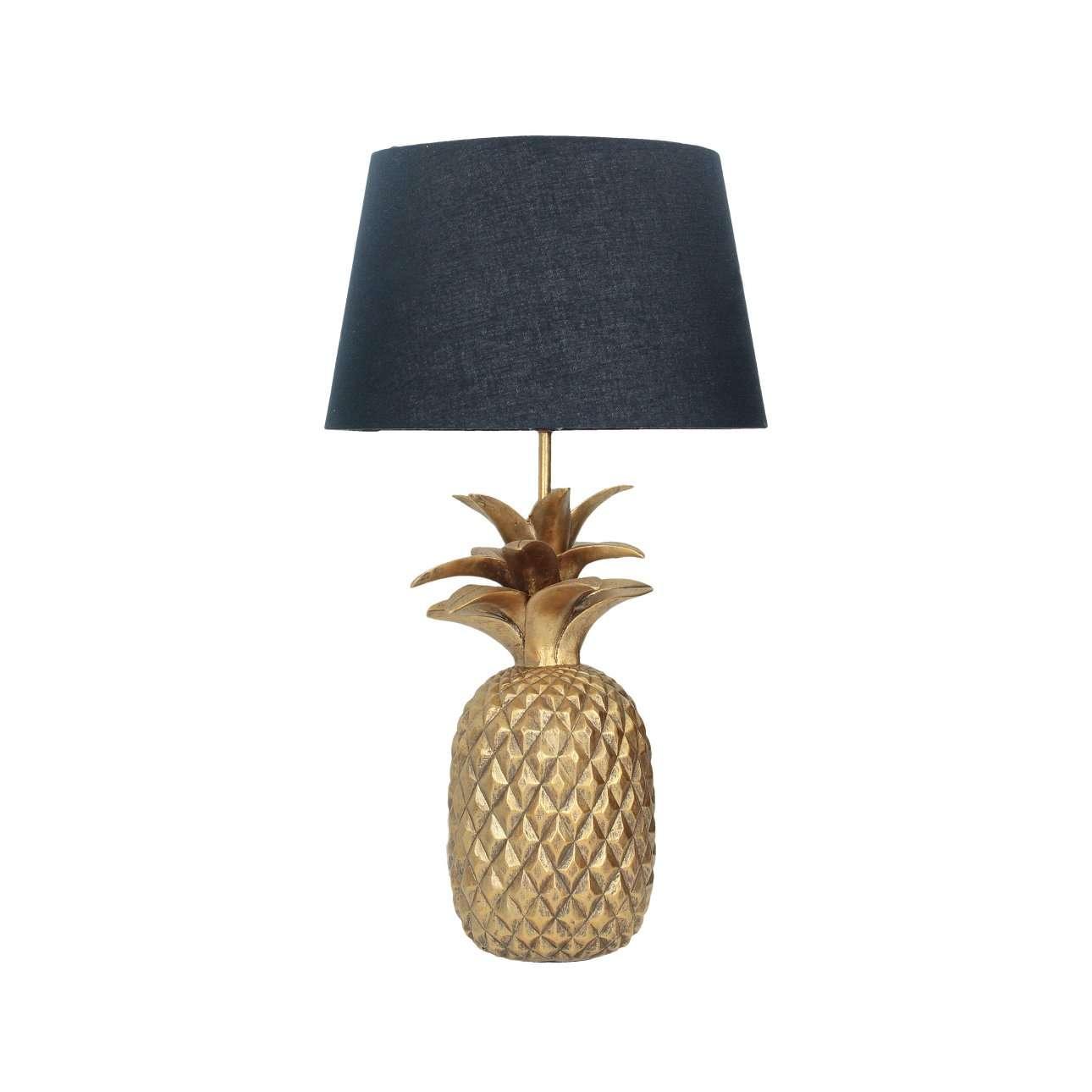 Tafellamp Pineapple gold 56cm