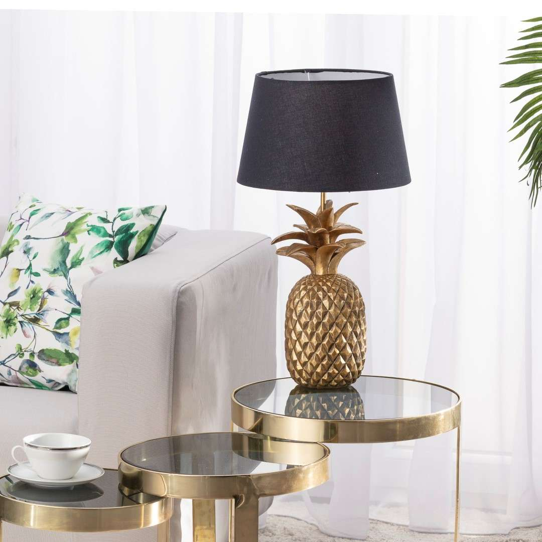 Lampa Pineapple gold wys. 56cm