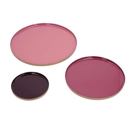 Tabletts-Set Color pink 3 Stck.