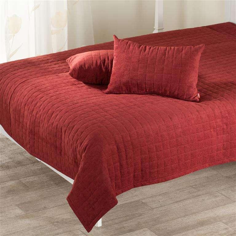 Komplet Maroon narzuta i poduszki 205 x 240 cm