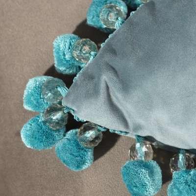 Poszewka Glamour 43 x 43 cm w kolekcji Velvet, tkanina: 704-18