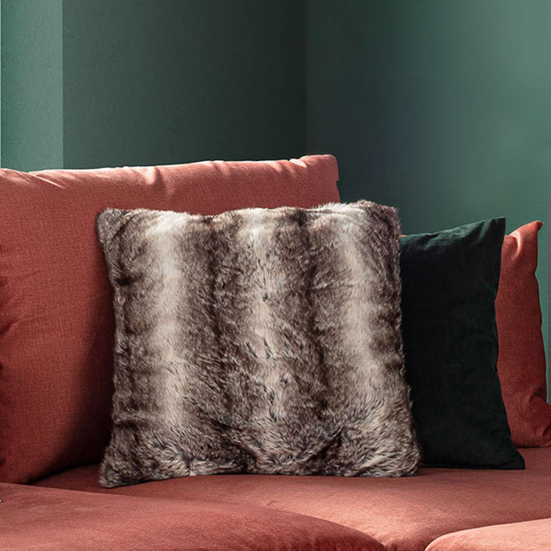 Kudde med innerkuddar Grey Wolf 45x45cm