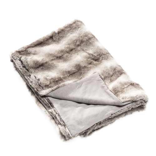 Faux fur plaid Grey Wolf 130x170cm