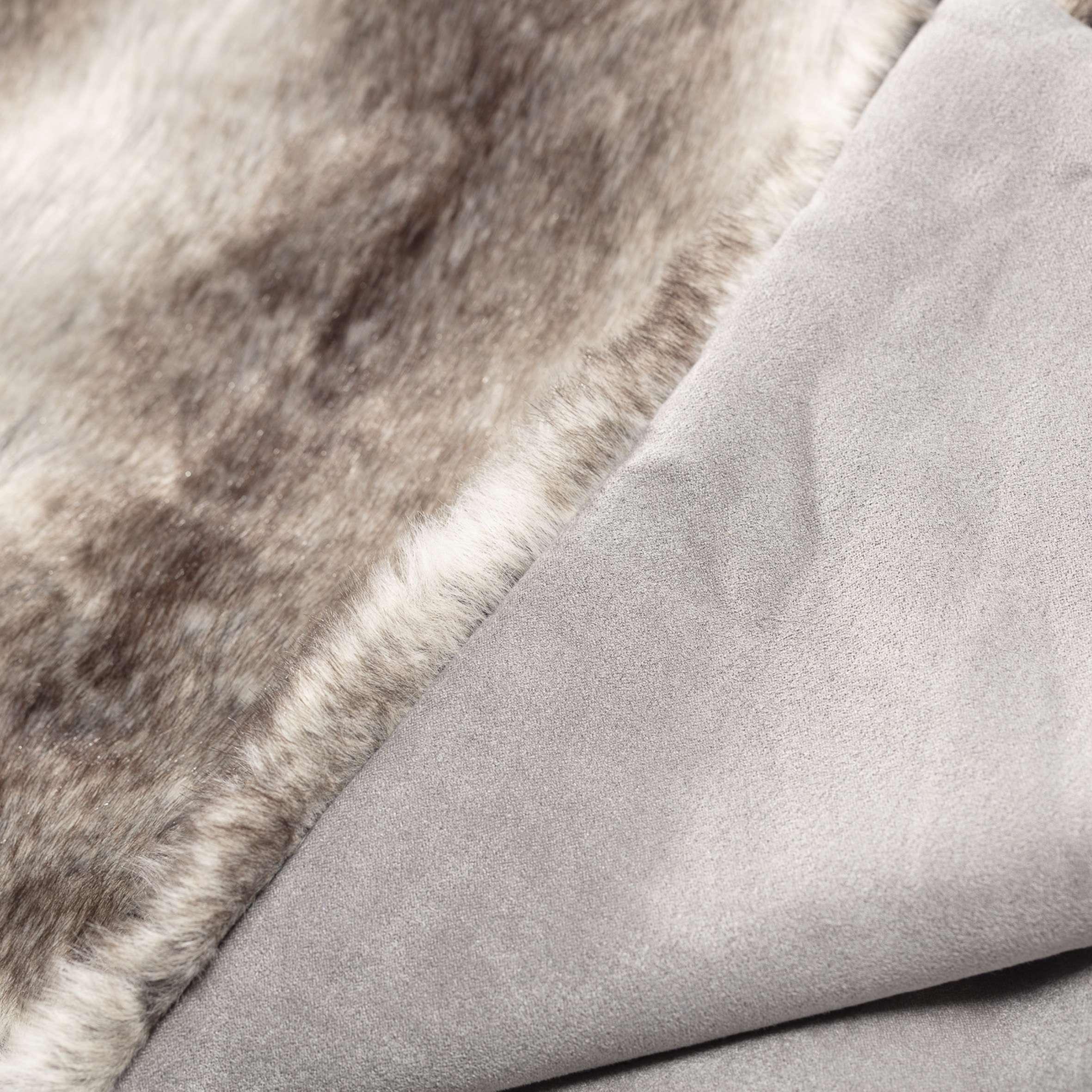 Pled futrzany Grey Wolf 130x170cm