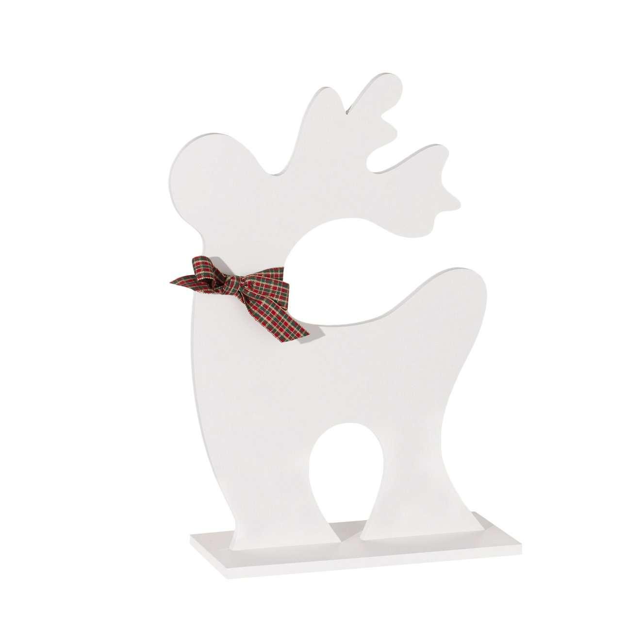 Dekoracja Christmas Deer white 50,5cm