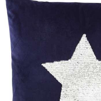 Obliečka s flitrami, hviezda 43x43cm