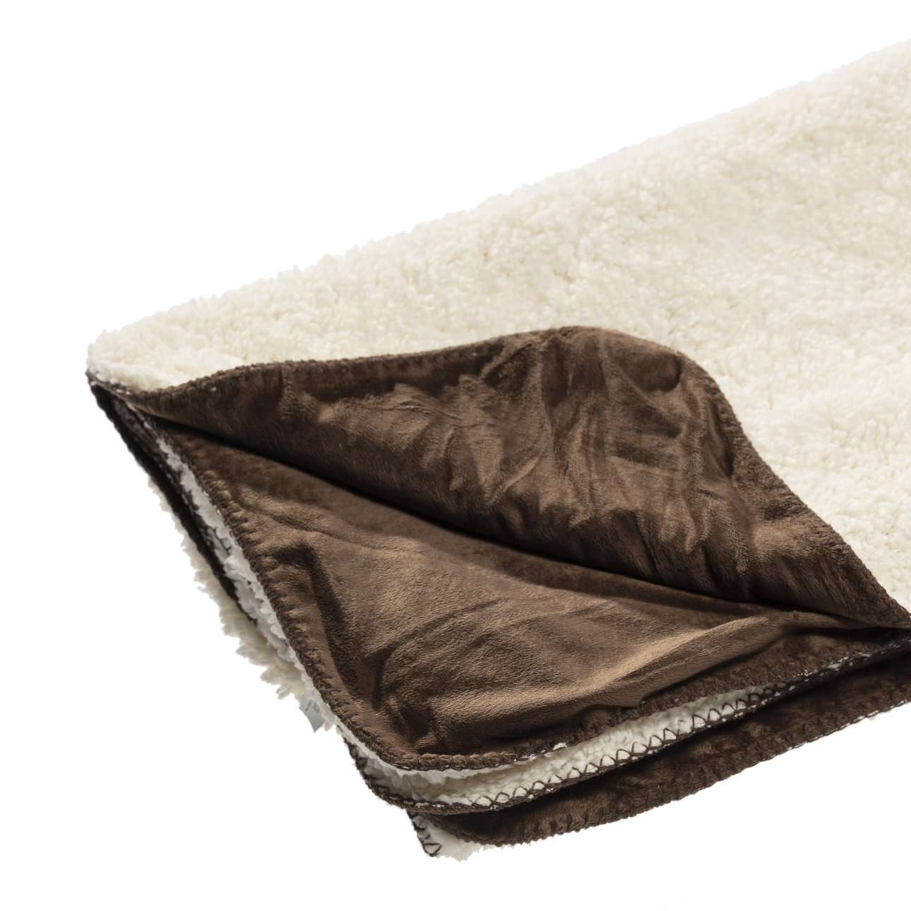 Pled Wolle brown 130x160cm