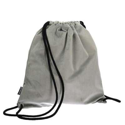 Plecak- worek Velvet 704-11 gołębi szary Kolekcja Velvet