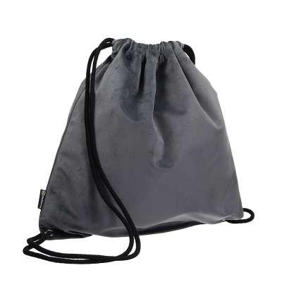 Gym Sack dark grey von der Kollektion Velvet, Stoff: 704-12