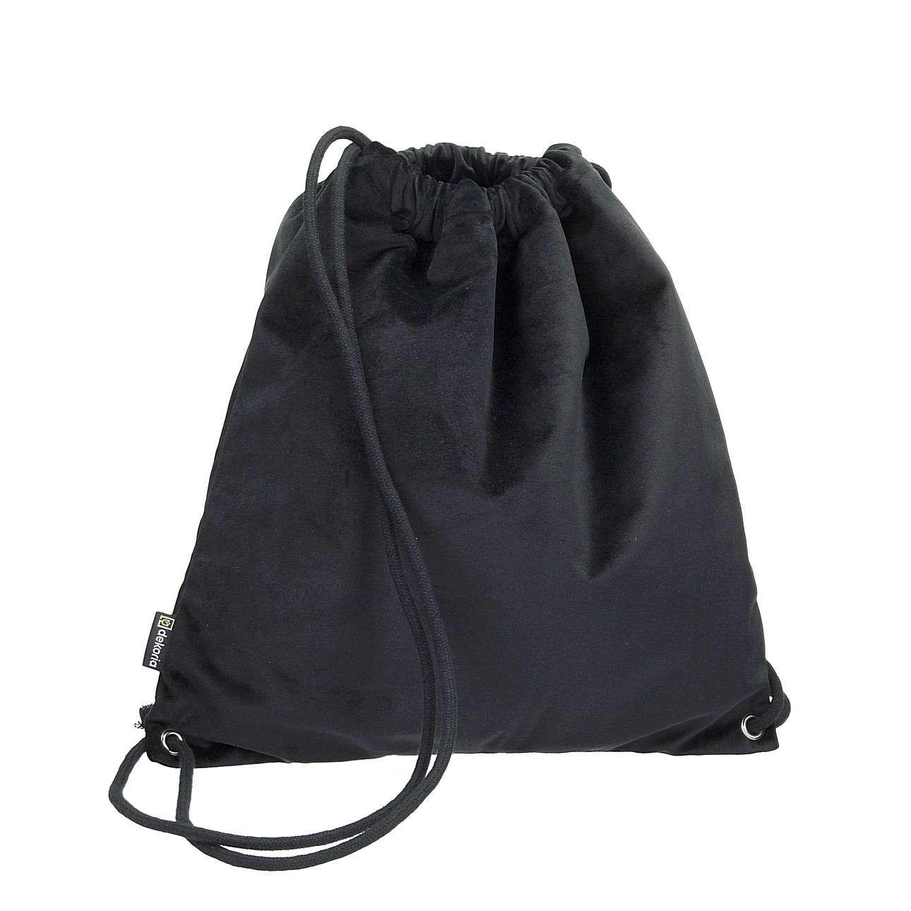 Gym Sack dark grey von der Kollektion Velvet, Stoff: 704-17