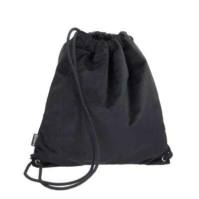 Plecak- worek Velvet 704-17 głęboka czerń Kolekcja Velvet