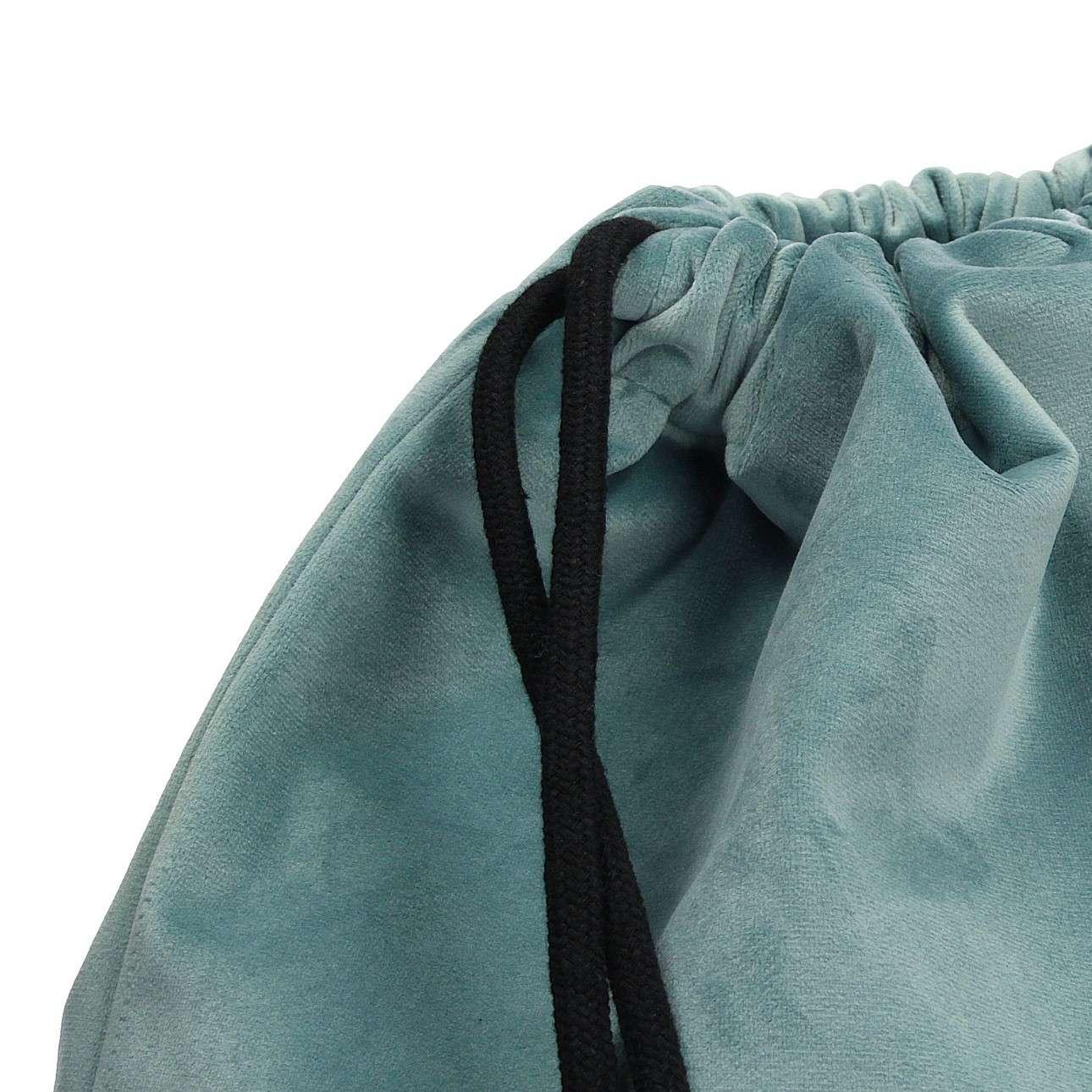 Gym Sack dark grey von der Kollektion Velvet, Stoff: 704-18