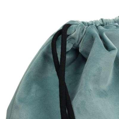 Gymtas dark grey 704-18 mintgroen Collectie Velvet