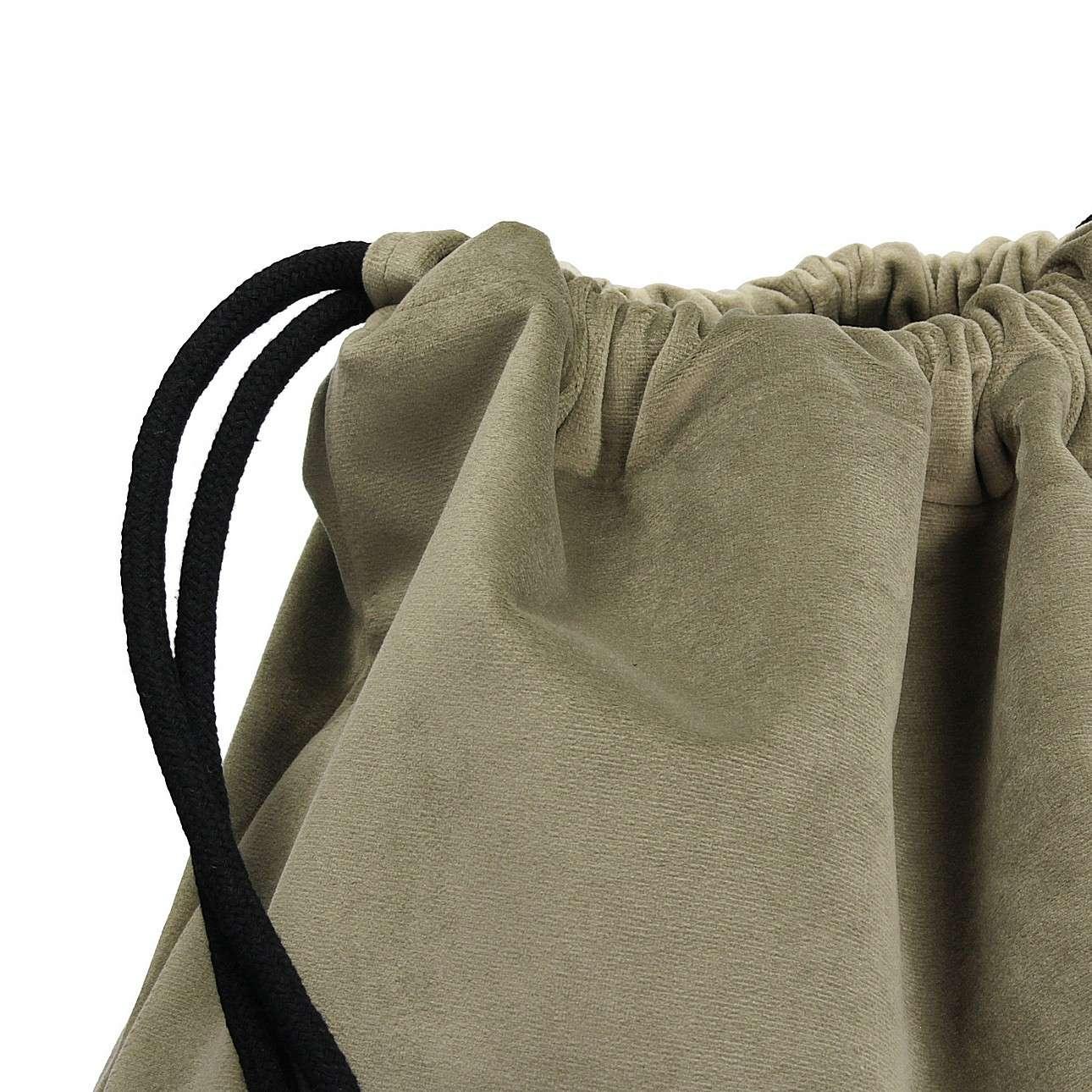 Gym Sack dark grey von der Kollektion Velvet, Stoff: 704-19