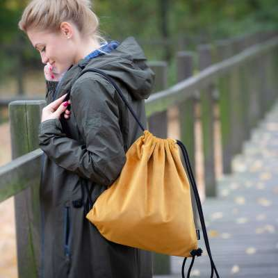 Plecak- worek Velvet 704-23 miodowy Kolekcja Velvet