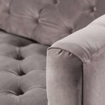 Sofa Velvet Elite grey 3-os.