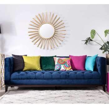 Sofa Velvet Elite indigo blue 3-os.