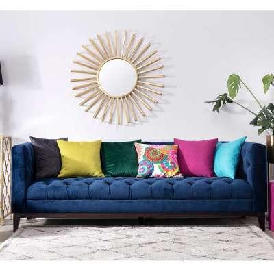 Sofa Velvet Elite indigo blue 3-Sitzer Sofas - Dekoria.de