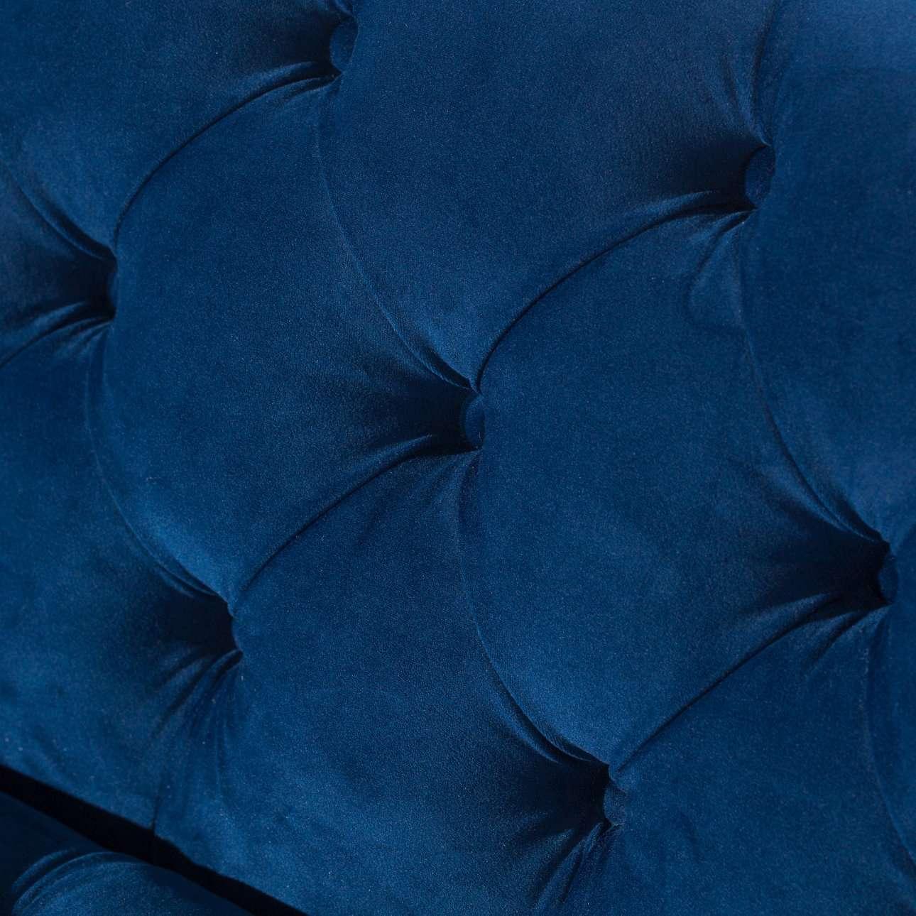 Sofa Velvet Elite indigo blue 3-os.