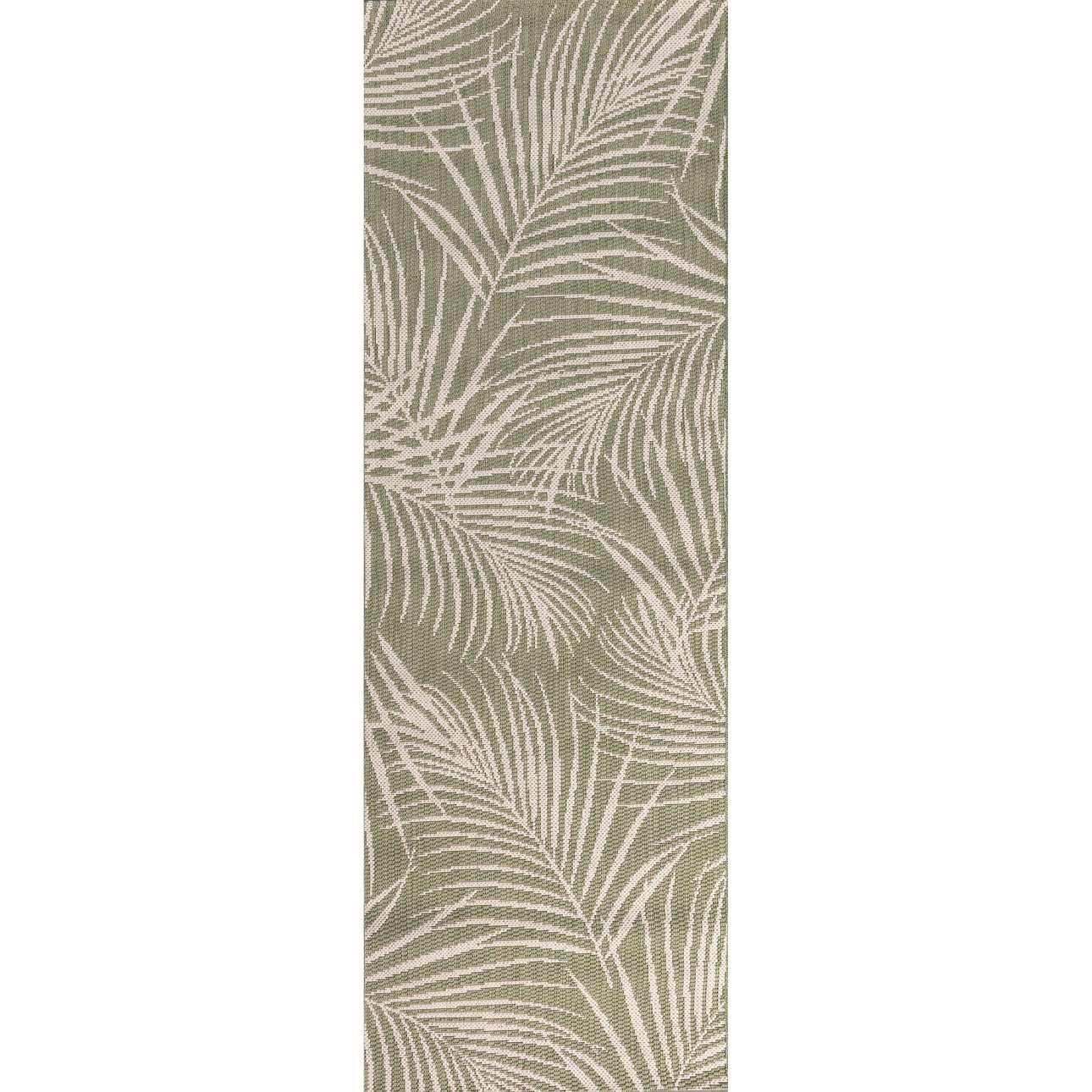 Koberec podélný Cottage II jungle green/wool 60x180cm