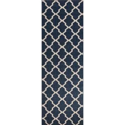 Cottage blue/wool 60x180cm Gulvtepper - Dekoria.no