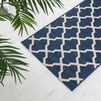 Cottage blue/wool 60x180cm rug Rugs and Runners - Dekoria.co.uk